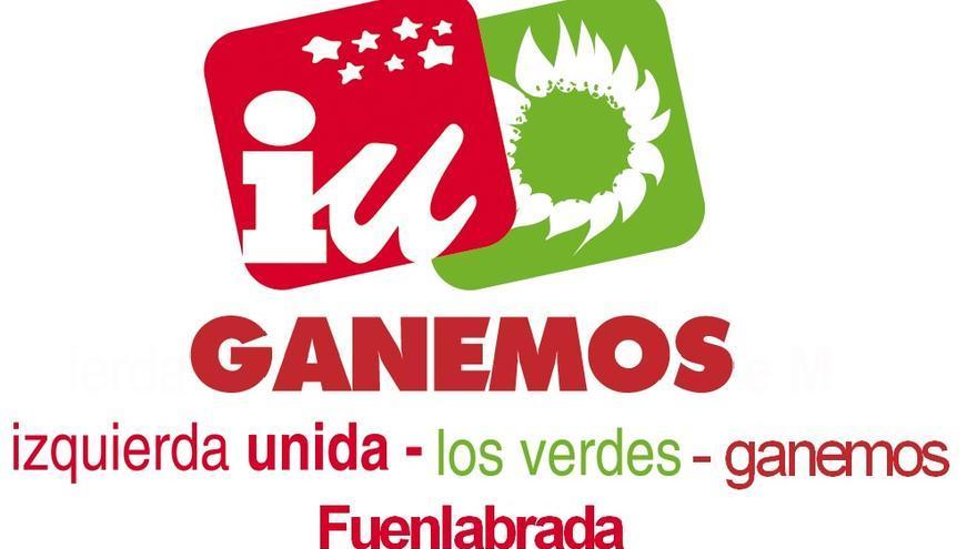 Logo de la candidatura de IUCM con la marca Ganemos.