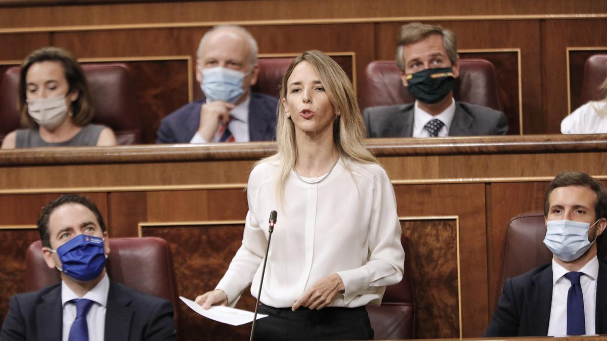 La exportavoz parlamentaria del PP, Cayetana Álvarez de Toledo.