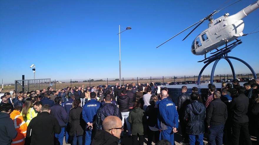 """""""Masivas"""" concentraciones en Toledo y Albacete contra los despidos anunciados por Airbus"""