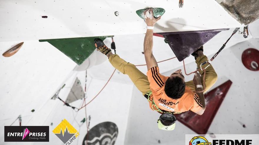Javi Cano durante la última prueba de la Copa de España de Dificultad.