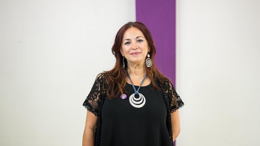 La presidenta del Grupo Parlamentario Sí Podemos Canarias, María del Río