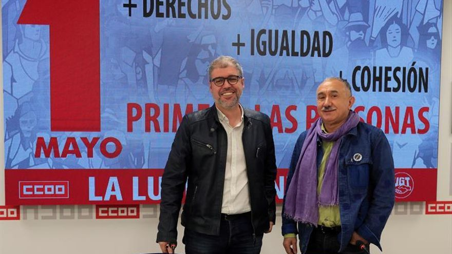 """UGT y CCOO piden al PSOE """"un Gobierno de izquierdas"""" y con una agenda social"""