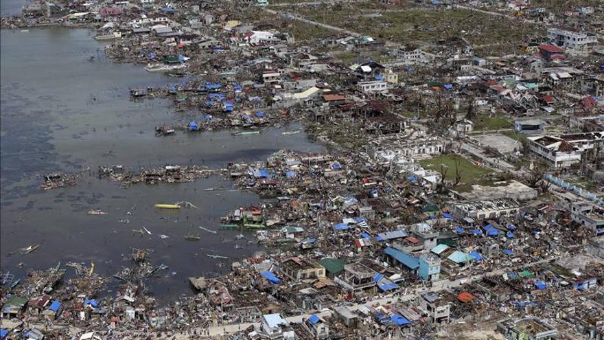 Vista aèrea de la catàstrofe a Filipines