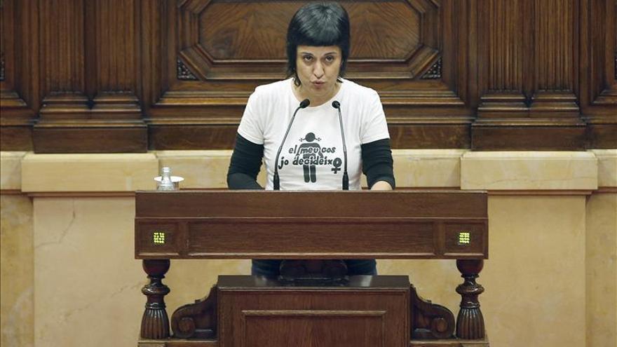 La portaveu parlamentària de la CUP, Anna Gabriel