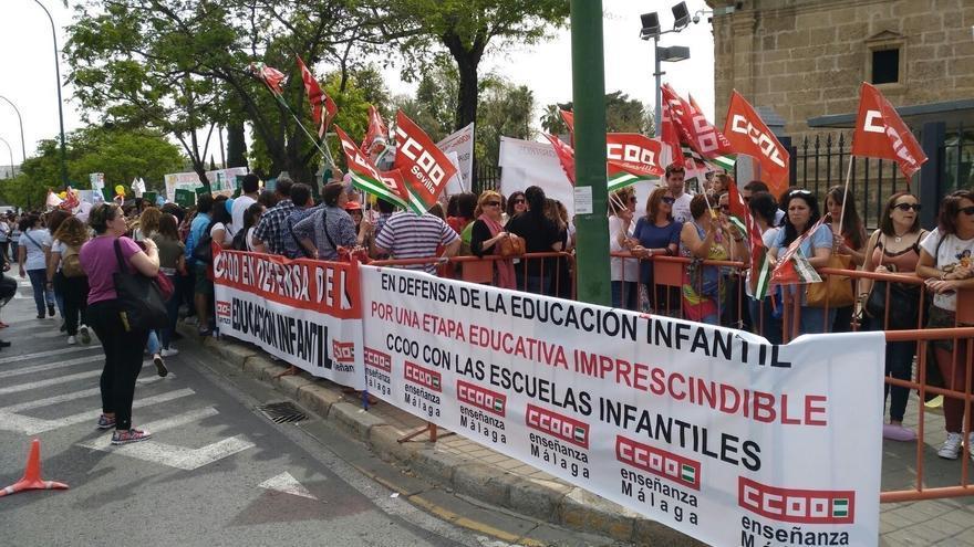 Protestas de las escuelas infantiles en Andalucía.