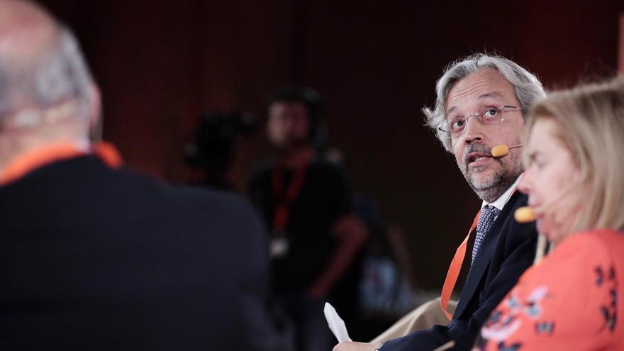 Andrés Betancor, en un acto de Ciudadanos en 2017