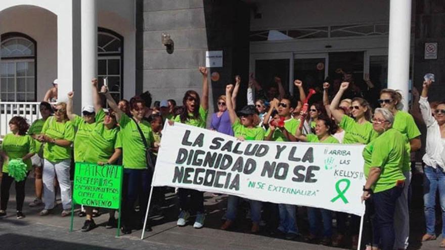 Protesta de Las Kellys en el Hotel HL Paradise Isla de Playa Blanca