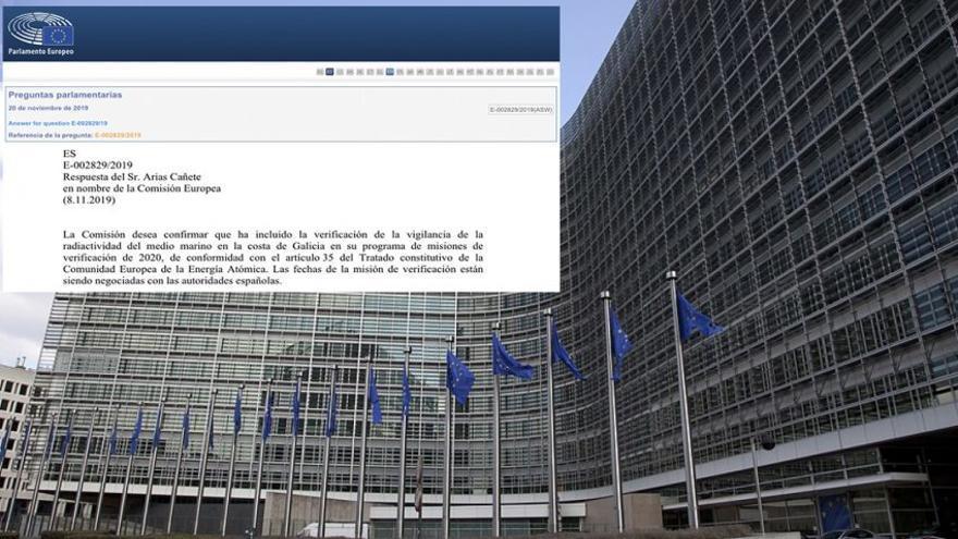 Respuesta de la Comisión Europea sobre las fechas previstas para supervisar cómo España vigila la radiactividad en la costa gallega