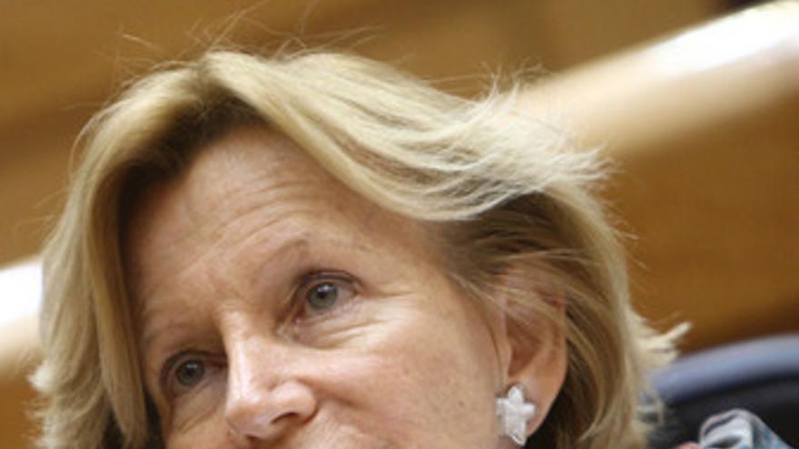 Elena Salgado en el Senado. (EUROPA PRESS)