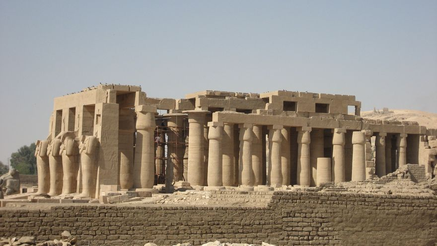 El Ramesseum es una de las más gratas sorpresas de la orilla oeste del Nilo. Chanel Wheeler