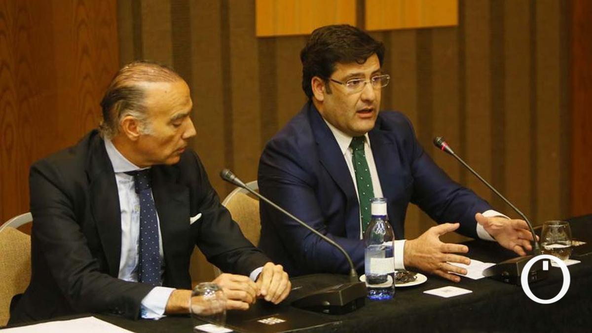 Luis Oliver y Jesús León, antes de comprar el Córdoba CF SAD.