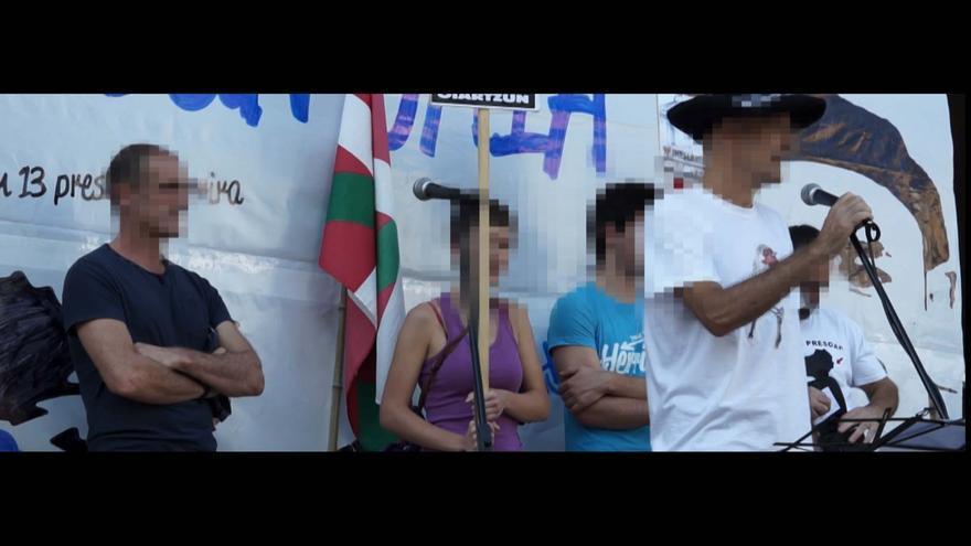 Imágenes de archivo de una manifestación en Oiartzun