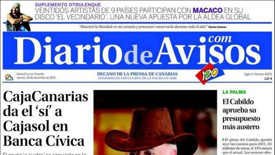De las portadas del día (24/12/2010) #2