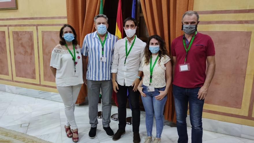 Enrique Jabares y el resto del equipo directivo de Asadipre, Asociación Andaluza de Directores de Infantil y Primaria.