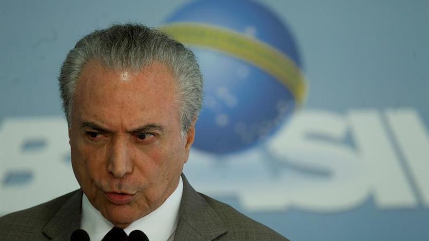Ministro de Justicia dice que Temer concluirá su mandato pese a señalamientos
