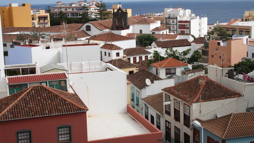 Imagen de los tejados del Casco Histórico de Santa Cruz de La Palma.