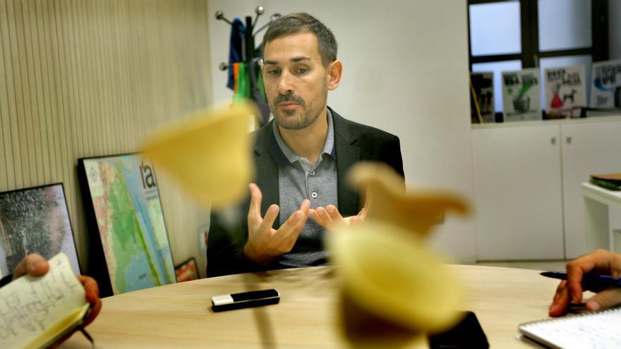 El vicealcalde, Sergi Campillo, durante la entrevista