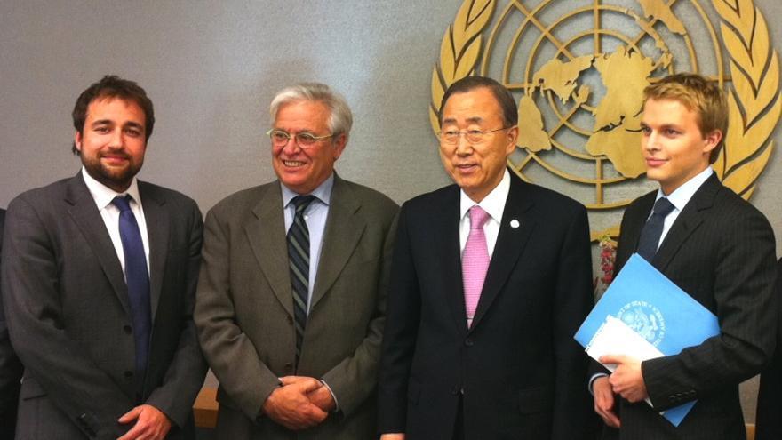Joan Clos junto a Ban Ki-moon / ONU