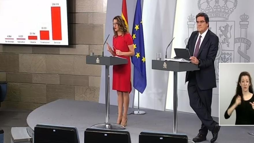 Ministra Trabajo: Sánchez decidirá si amplía el estado de alarma en función del criterio de las autoridades sanitarias