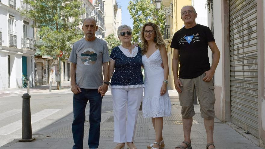 Miguel Navarro, Aurora Máñez, Amparo Belmonte y Daniel Galán