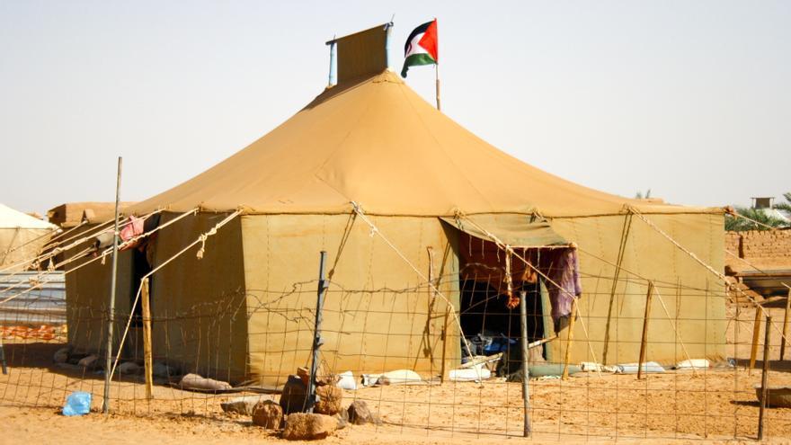 Una de las muchas jaimas del campamento de refugiados de Dajla en Argelia/ G. S.