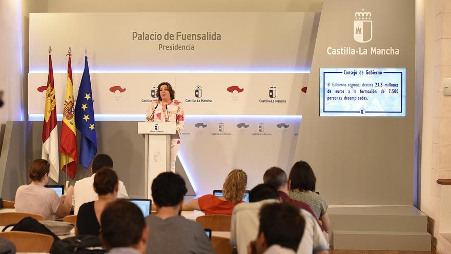 Patricia Franco, este martes, en el toledano Palacio de Fuensalida