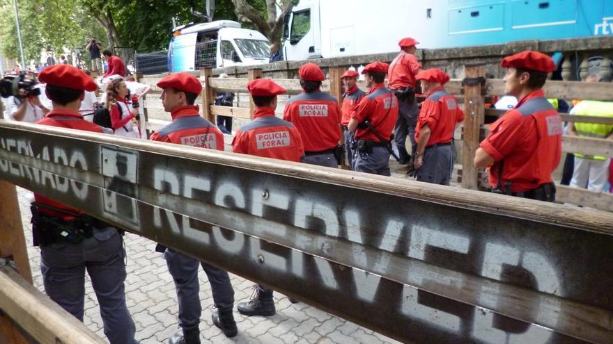Policía Foral detiene a ocho personas en el primer día de fiestas
