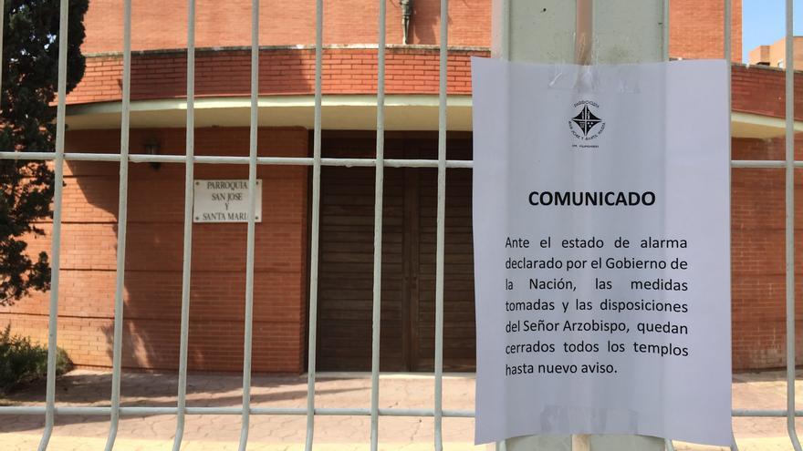 -Comunicado de la Parroquia San José y Santa María ante el cierre del templo / FOTO: javidmgz