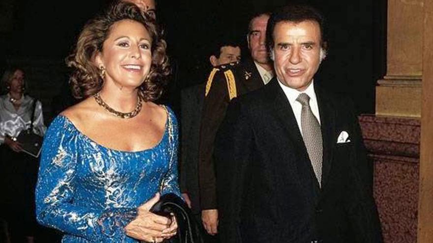 Carlos Menem y María Julia Alsogaray, ella fue funcionaria símbolo de la alianza con la UCeDé.