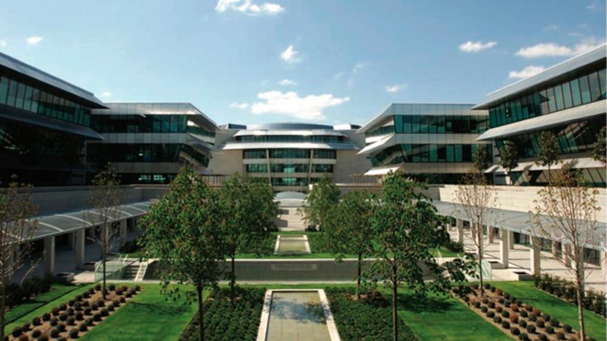 Imagen de la sede corporativa del Banco Santander en Boadilla del Monte (Madrid).