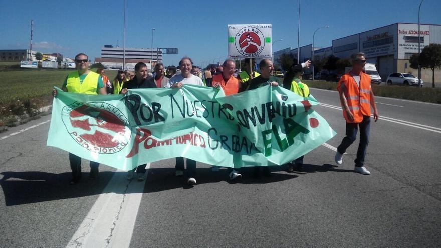 Una de las movilizaciones por la situación de Pamplonica.