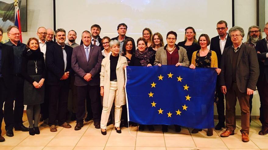 Participantes en el proyecto europeo Interreg Night Light celebrado en Luxemburgo.