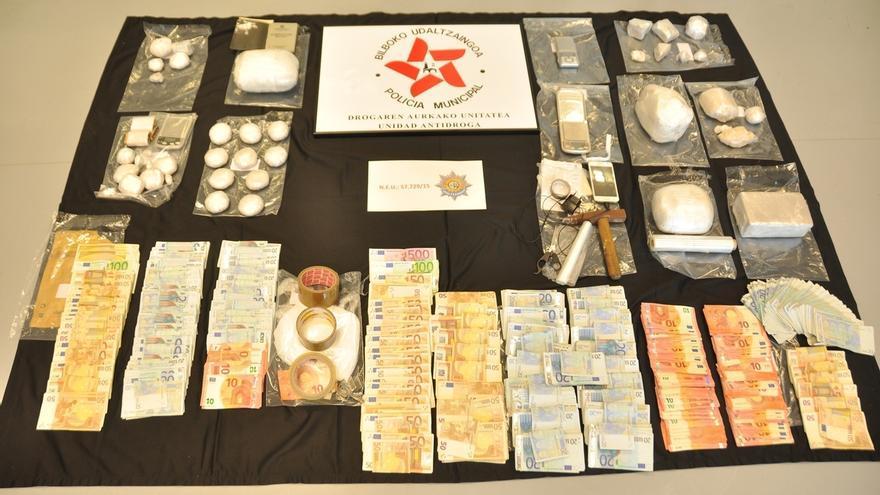 Desmantelado en Bilbao un clan dedicado al tráfico de drogas e incautados 6 kilos de heroína de gran pureza