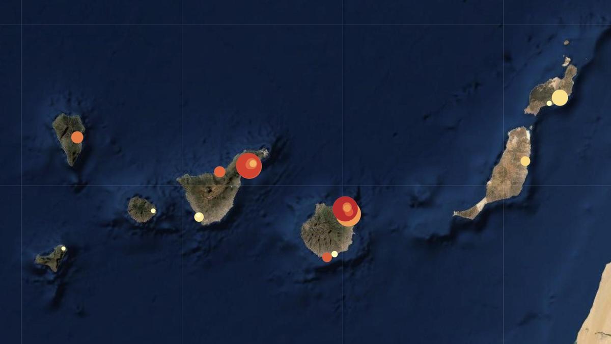 Mapa de la presión en las camas hospitalarias de Canarias