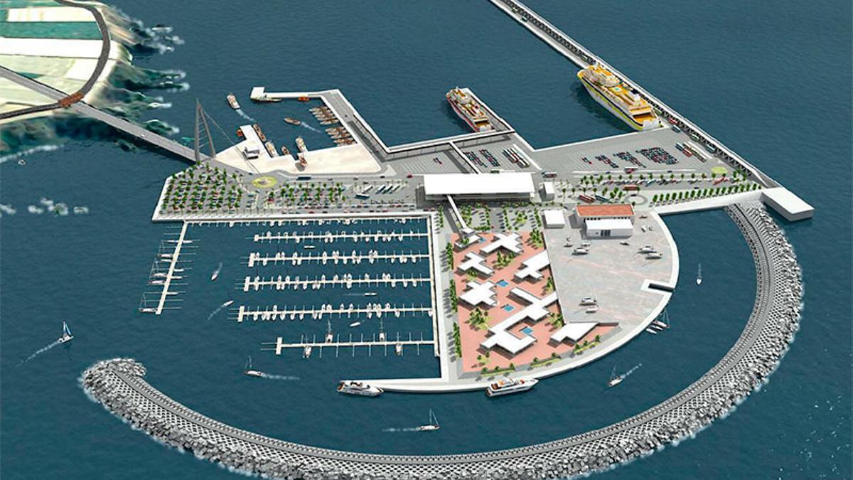 Infografía del puerto de Fonsalía, en el litoral de Guía de Isora (Tenerife)