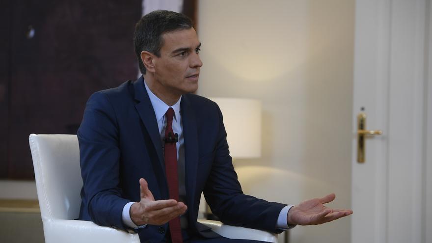 Pedro Sánchez durante la entrevista en Al Rojo Vivo.