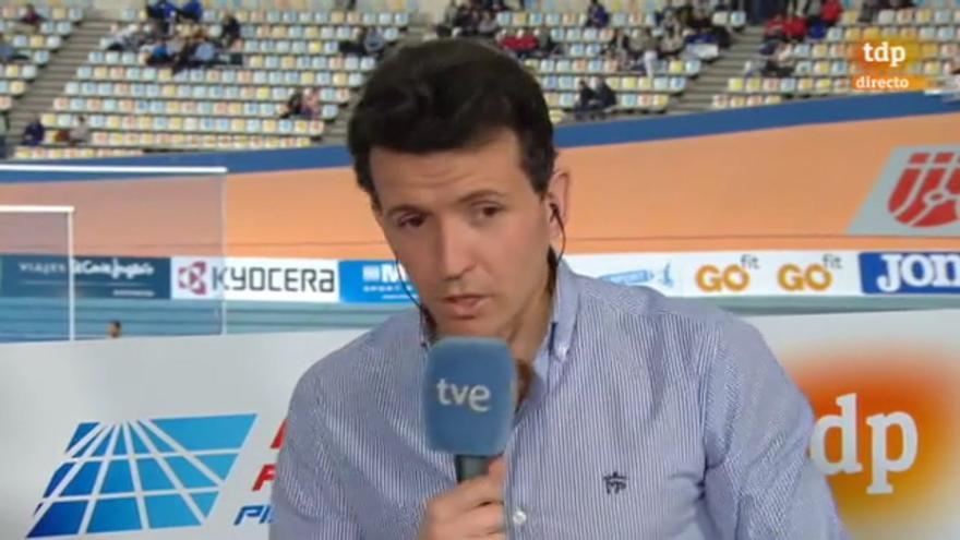 Juan Carlos Higuero en su actual faceta de comentarista de TVE.