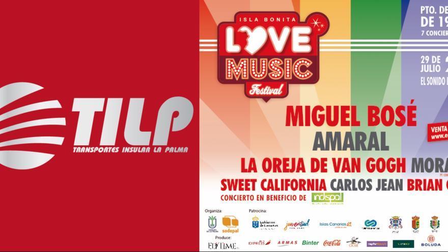 La organización del Isla Bonita Love Festival ha acordado con Transportes Insular La Palma un servicio especial de guaguas para acudir al Love Music Festival el 29 de julio.