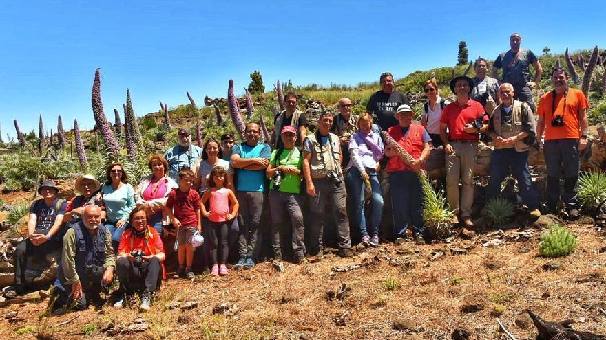 Grupo que ha participado este sábado en la  'III QQD Tajinastes' de la Asociación 'Afoto' La Palma.