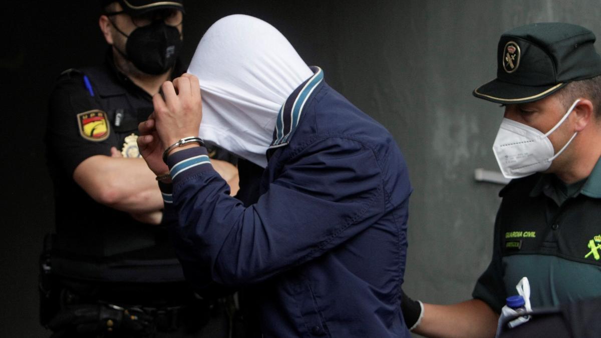 Imagen de uno de los tres varones mayores de edad encarcelados como presuntos autores de la agresión que acabó con la vida deSamuelLuiz.