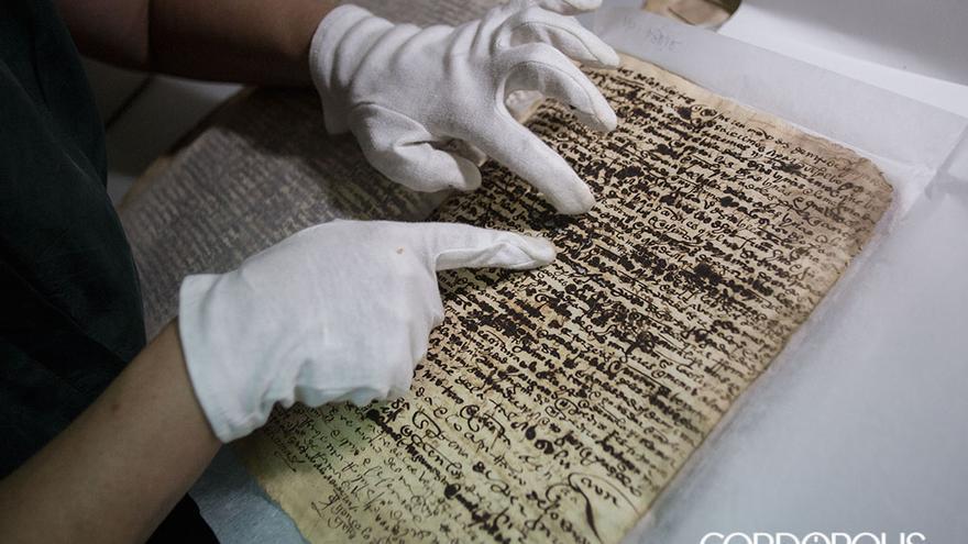 Trabajos de restauración de legajos en el Archivo | MADERO CUBERO