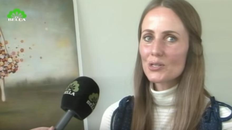 Captura de pantalla de Sherin Khankan durante una entrevista // TV-Bella