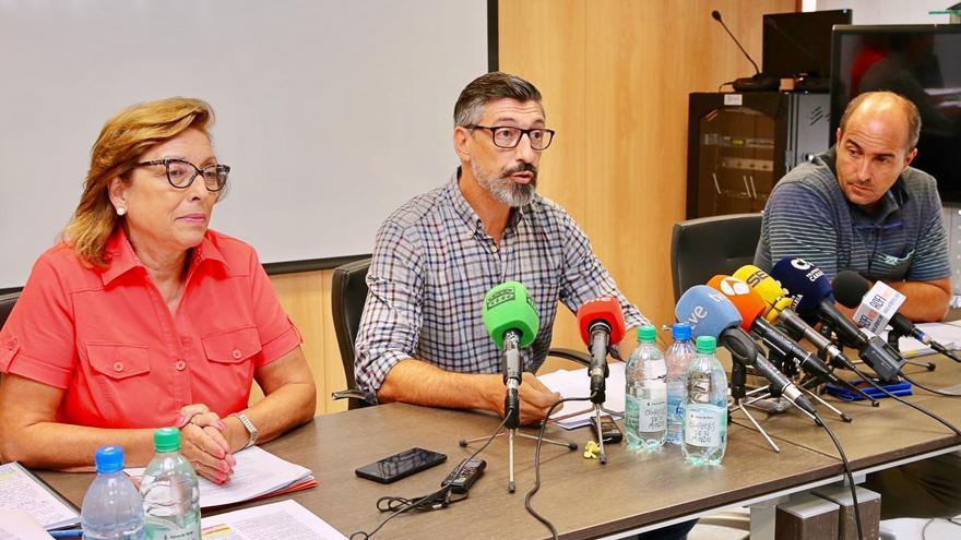Pita (i), Soler y Herrera en la rueda de prensa de este lunes.