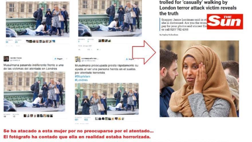 Maldito bulo sobre imagen islamófoba.