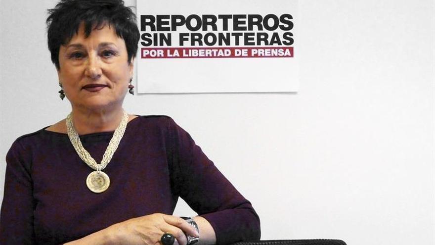 RSF recuerda a Aznárez como una gran defensora de la libertad de prensa