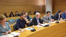 Los portavoces de PSPV, Podemos, Compromís, Ciudadanos y PP en la comisión de la nueva RTVV