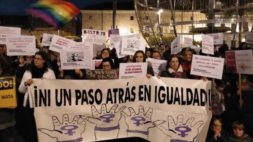 Concentración feminista en Mérida