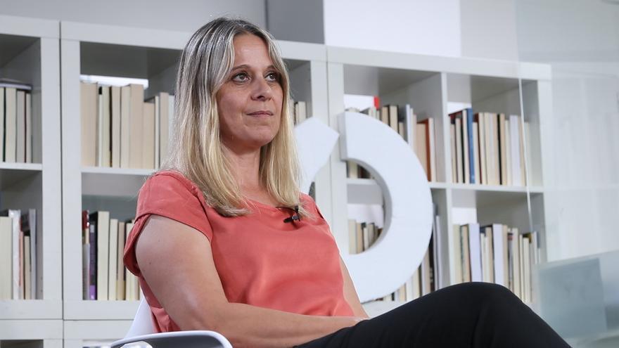 Raquel Martí, durante la entrevista en la redacción de eldiario.es