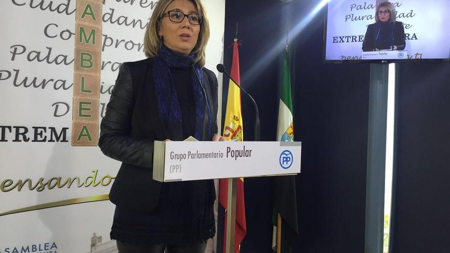 Cristina Teniente, portavoz presupuestaria del Partido Popular de Extremadura