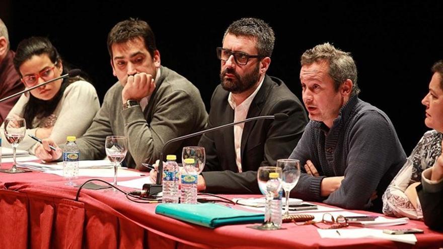 El presidente de Junta Central Fallera (JCF), Pere Fuset, en una asamblea
